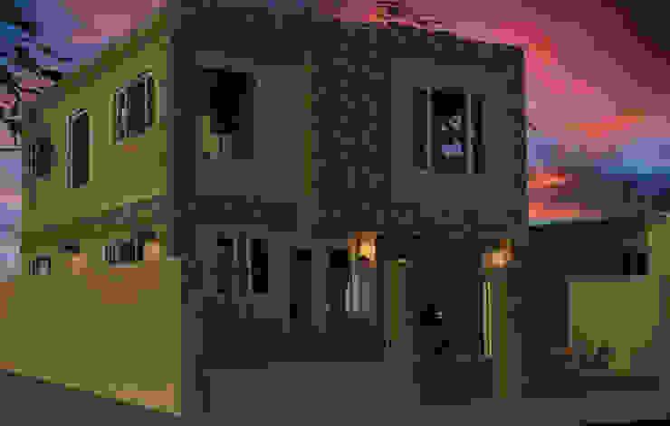Fachada vivienda render 3D Casas modernas de Cosmoservicios SAS Moderno Ladrillos
