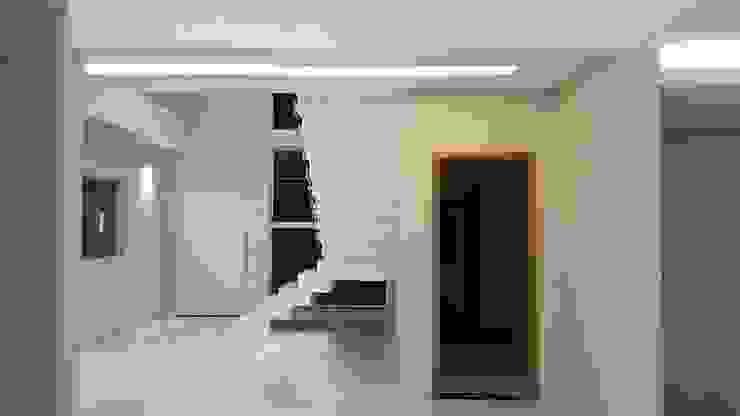 Escada cascata por Monteiro arquitetura e interiores Moderno