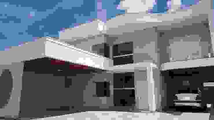 Fachada por Monteiro arquitetura e interiores Moderno