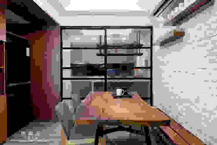森林系清新居家:  餐廳 by 唐御品空間設計