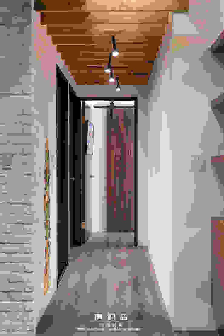 森林系清新居家 乡村风格的走廊,走廊和楼梯 根據 唐御品空間設計 鄉村風