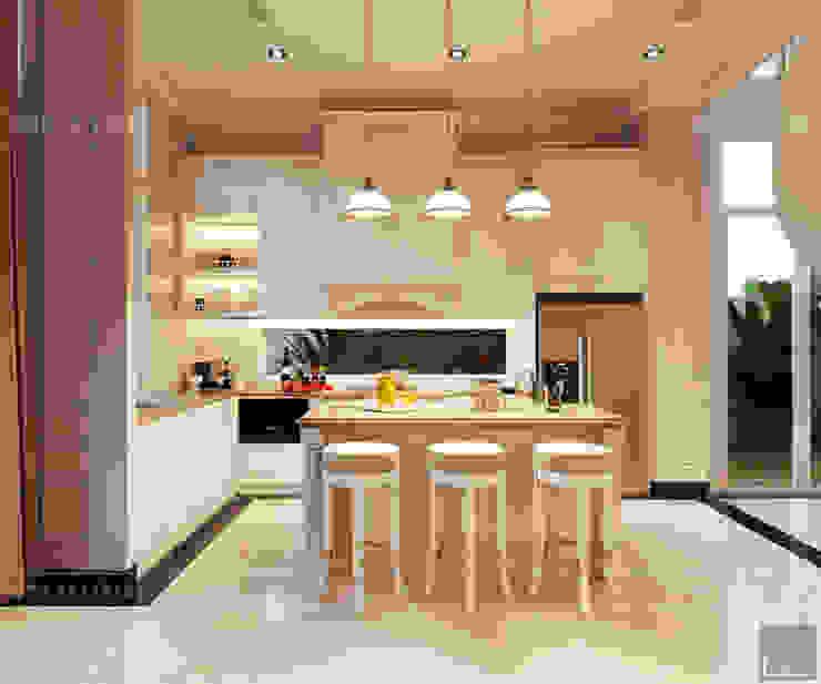 Thiết kế nội thất biệt thự phong cách tân cổ điển sang trọng Nhà bếp phong cách kinh điển bởi ICON INTERIOR Kinh điển