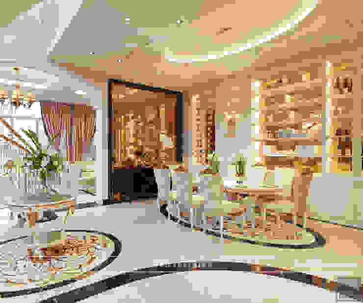 Thiết kế nội thất biệt thự phong cách tân cổ điển sang trọng Phòng ăn phong cách kinh điển bởi ICON INTERIOR Kinh điển