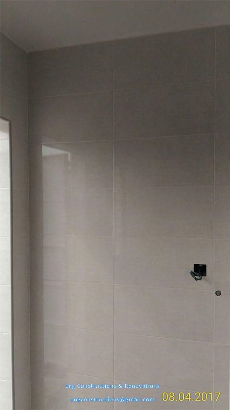 Wall Tiling Modern walls & floors by Sam Contractors Ipoh Modern