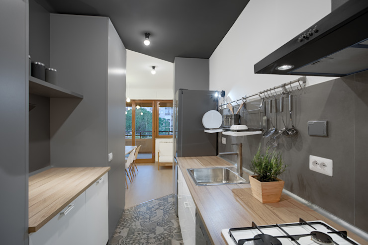 Casa per studenti Cucina moderna di MAMESTUDIO Moderno