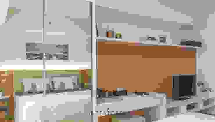 Lemari Pakaian Kamar Tidur Minimalis Oleh INTERIORES - Interior Consultant & Build Minimalis Kayu Lapis