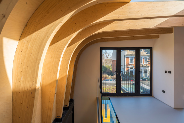 Cross Laminated Timber beams :  Roof by The Crawford Partnership, Modern