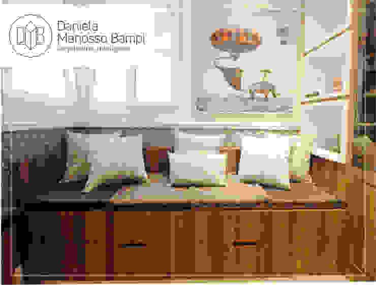 Daniela Manosso Bampi - Arquitetura Inteligente Modern Study Room and Home Office MDF Brown