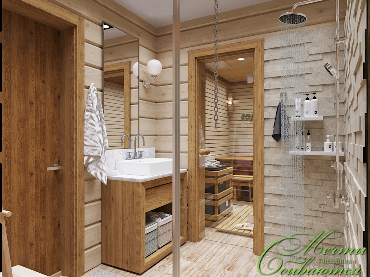 Country style bathroom by Компания архитекторов Латышевых 'Мечты сбываются' Country