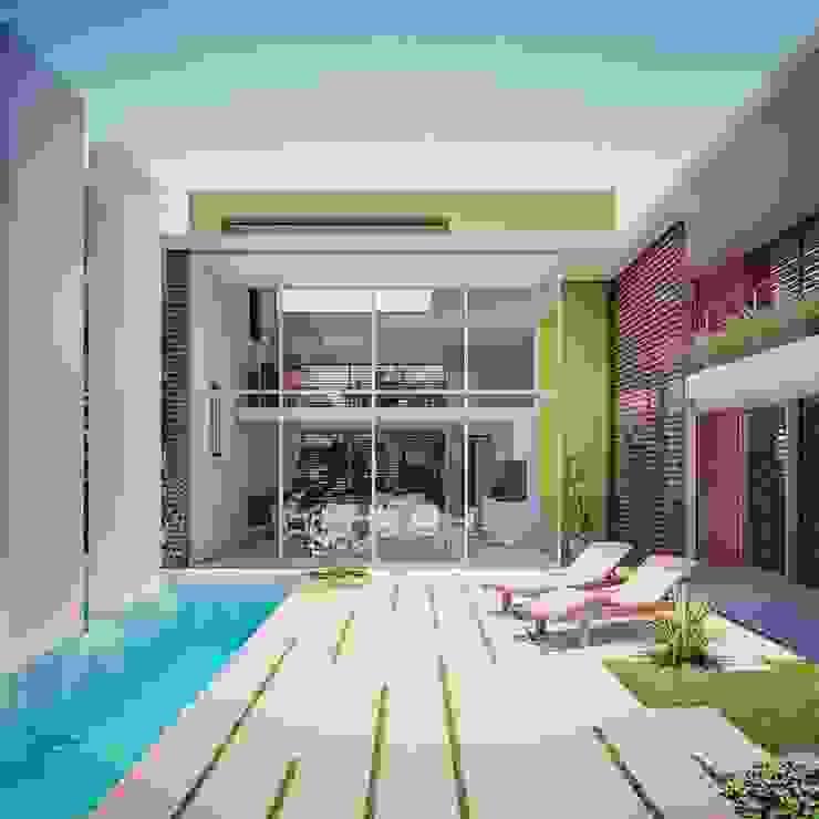 Interior patio space Modern Garden by Fernandez Architecture Modern