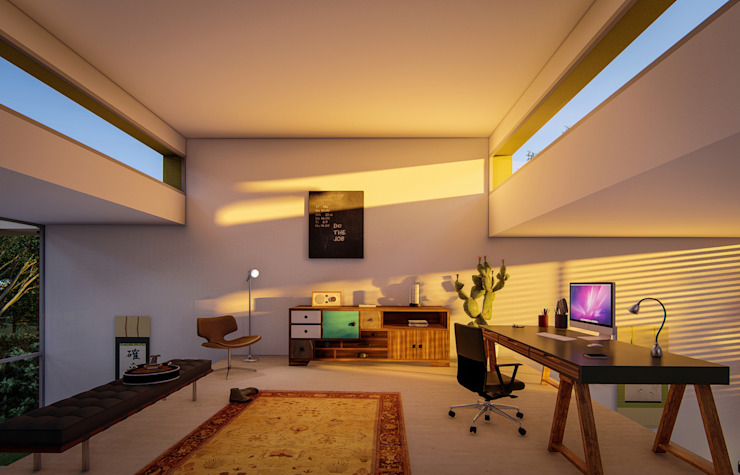 Fort Lauderdale Modern Study Room and Home Office by Fernandez Architecture Modern