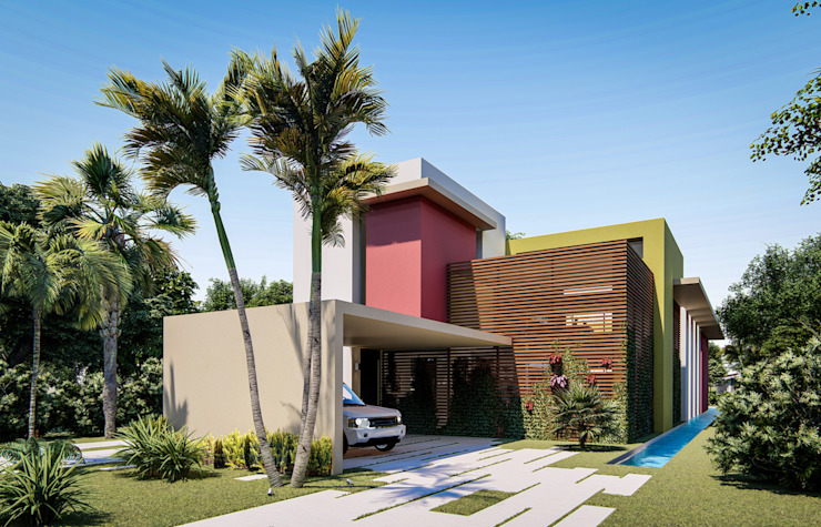 Fort Lauderdale Modern Garage and Shed by Fernandez Architecture Modern