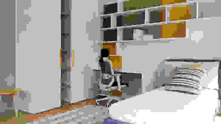 La cameretta Spaziojunior Camera da letto moderna Effetto legno