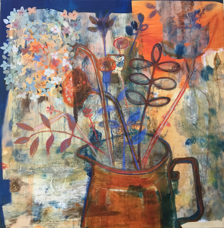 Original artwork Acrylic on Birch wood pane Rural Retro ArtworkPictures & paintings