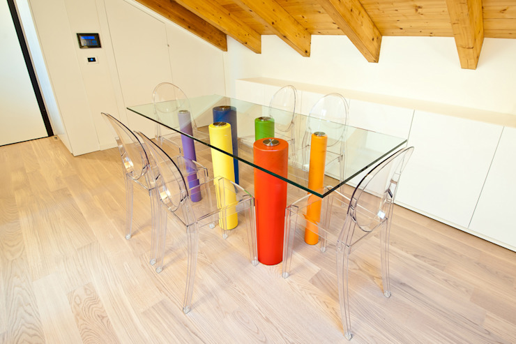 Annalisa Carli Modern dining room Wood Transparent