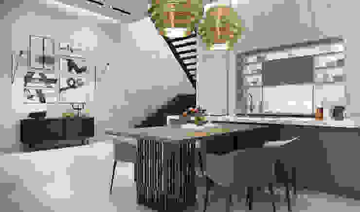 Studio 25 Industrial style living room Metallic/Silver