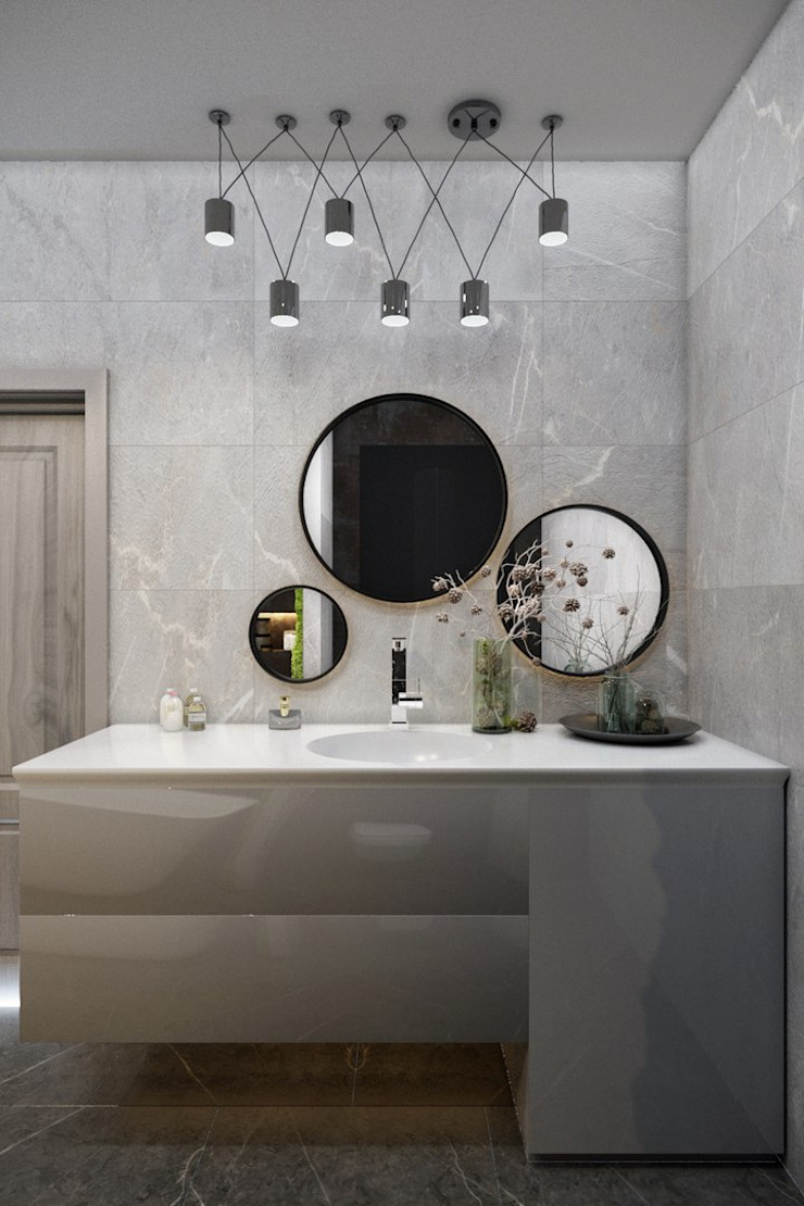 Eclectic style bathrooms by ДизайнМастер Eclectic
