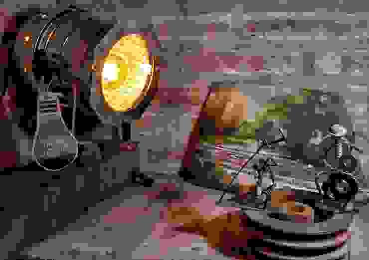 von Lamparas Vintage Vieja Eddie Ausgefallen Eisen/Stahl