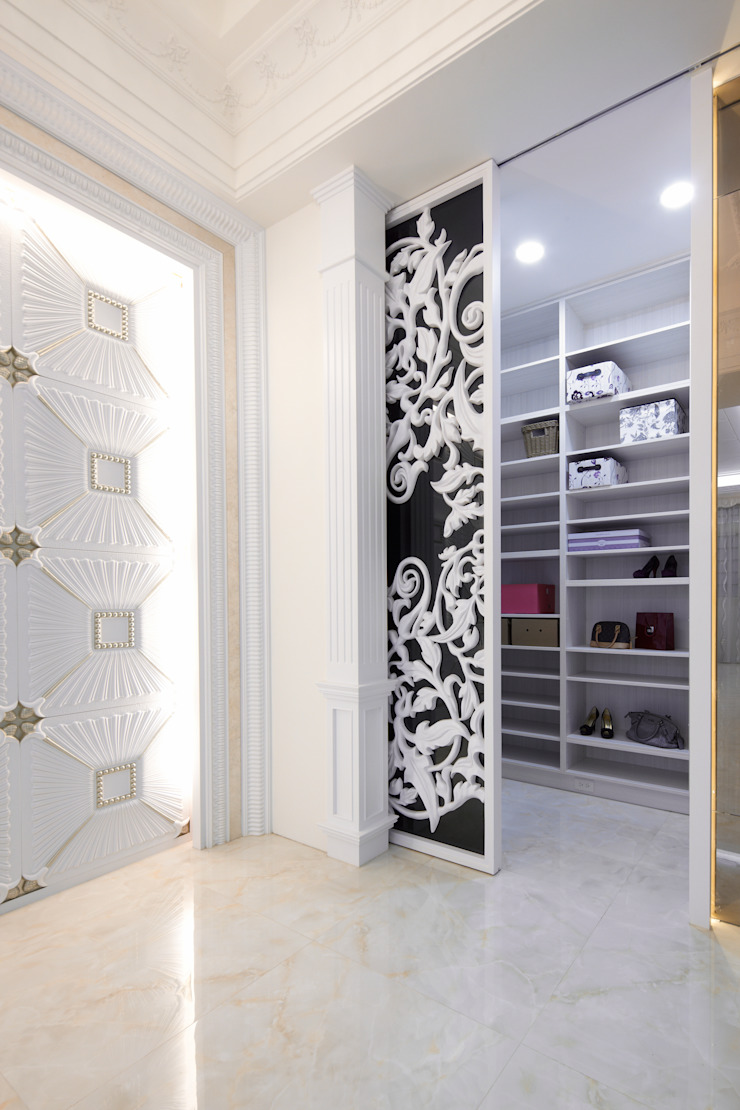 龜山區 康公館 經典風格的走廊,走廊和樓梯 根據 奇恩室內裝修設計工程有限公司 古典風