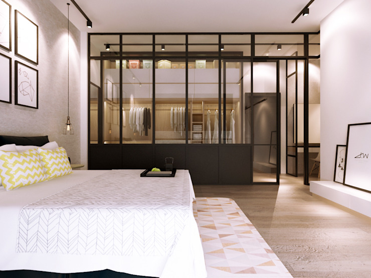 Industrial style bedroom by Jannovative Design Industrial