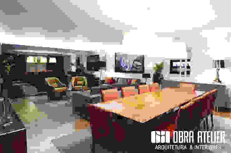 OBRA ATELIER - Arquitetura & Interiores Salon moderne Ambre/Or