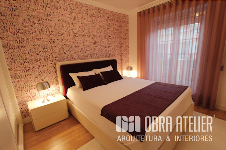 Quarto Quartos modernos por OBRA ATELIER - Arquitetura & Interiores Moderno