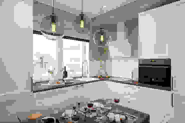 Cuisine minimaliste par Студия архитектуры и дизайна Дарьи Ельниковой Minimaliste