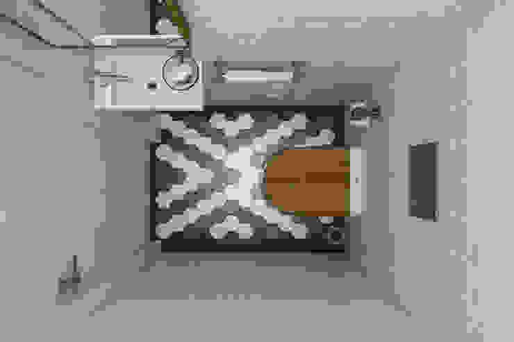 Квартира 77 кв.м. в современном стиле в ЖК Жемчужина Зеленограда. Ванная комната в стиле минимализм от Студия архитектуры и дизайна Дарьи Ельниковой Минимализм