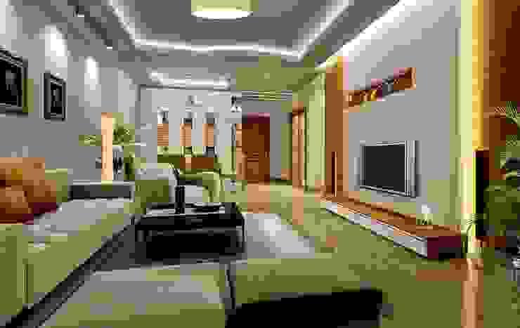 Living room: asian  by Slate Dezine,Asian