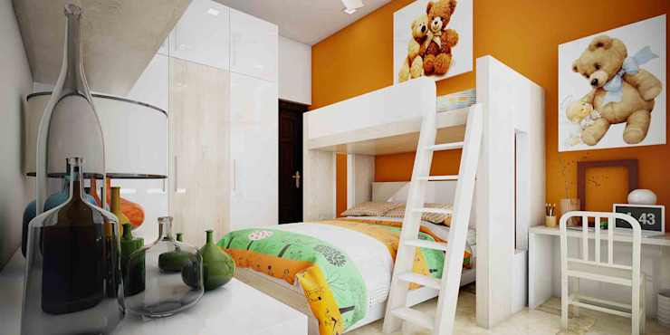 Kid's Room and Wardrobe Designs in Kerala: asian  by Monnaie Interiors Pvt Ltd,Asian
