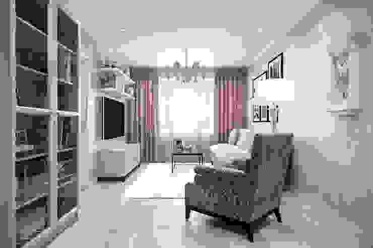 Квартира 51 кв. м. в стиле эклектика в Спб. Гостиные в эклектичном стиле от Студия архитектуры и дизайна Дарьи Ельниковой Эклектичный