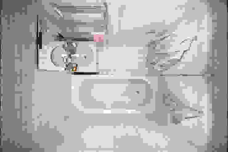 Квартира 51 кв. м. в стиле эклектика в Спб. Ванная комната в эклектичном стиле от Студия архитектуры и дизайна Дарьи Ельниковой Эклектичный