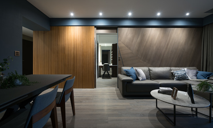 主臥隱藏門&客廳 根據 Moooi Design 驀翊設計 北歐風