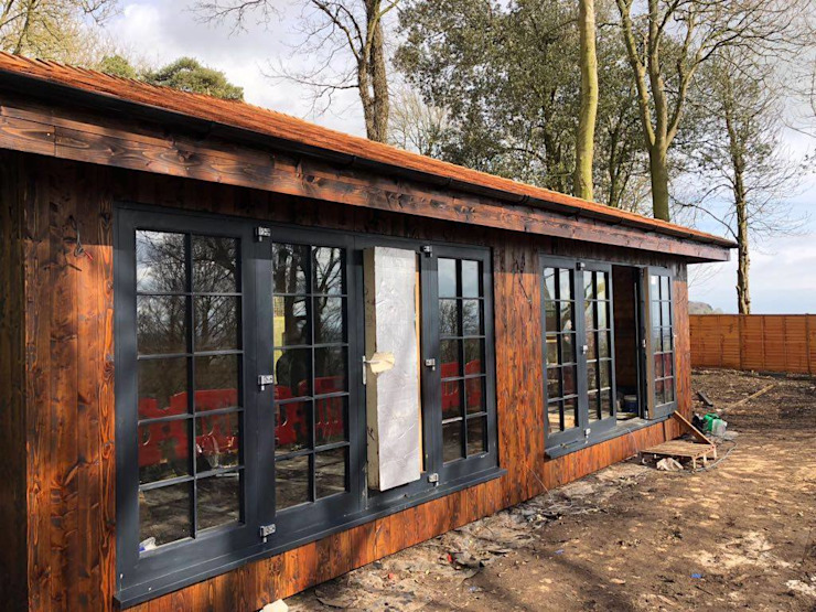 Exterior Glazing by Building With Frames Colonial Wood Wood effect