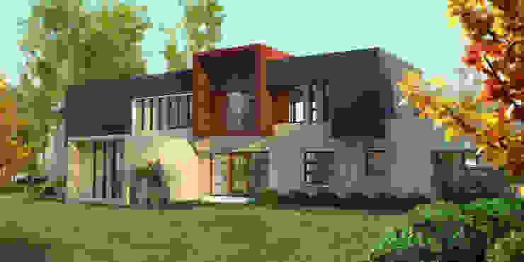 Constructora Rukalihuen Mediterrane Häuser Ziegel Beige