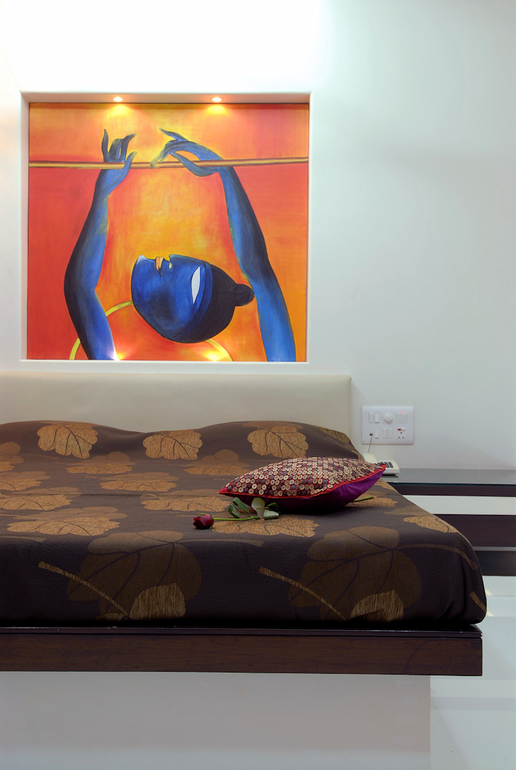 Residential Interior Project for Mr. Chudasama Modern style bedroom by Jeearch Associate Modern