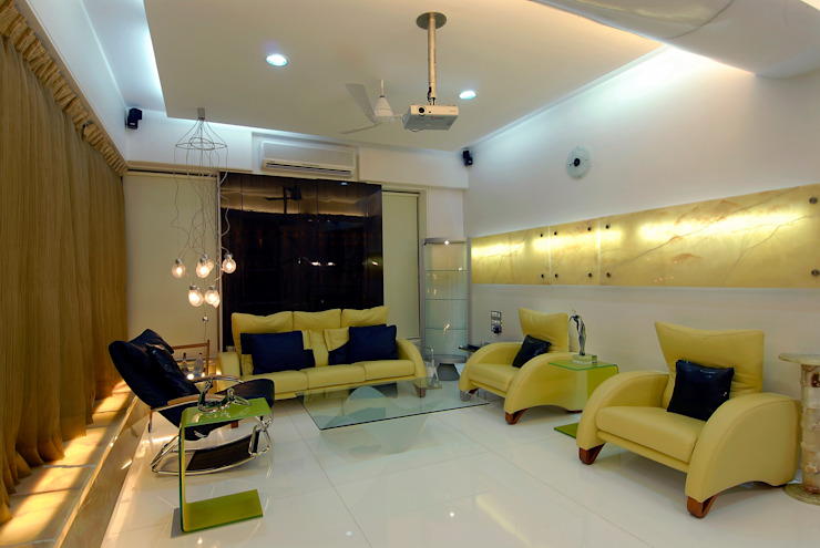 Residential Interior Project for Mr. Chudasama Modern living room by Jeearch Associate Modern