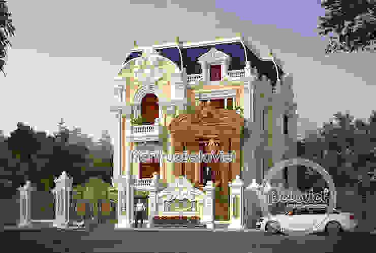 Phối cảnh mẫu dinh thự đẹp 3 tầng Cổ điển hoành tráng (CĐT: Ông Hùng - Quảng Ninh) KT18018 bởi Công Ty CP Kiến Trúc và Xây Dựng Betaviet