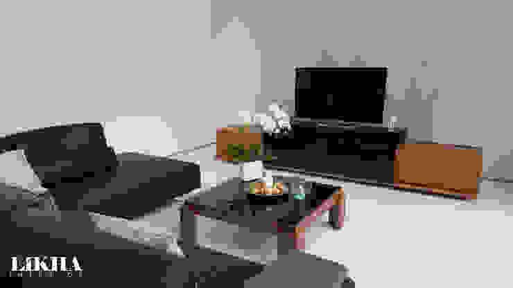 Salones minimalistas de Likha Interior Minimalista Contrachapado