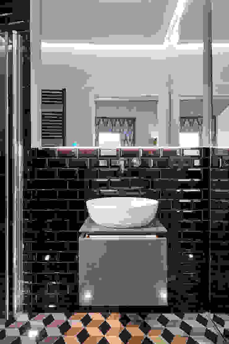 Modernes Und Extravagantes Badezimmer Banovo Gmbh Ausgefallene Badezimmer Fliesen Braun Homify