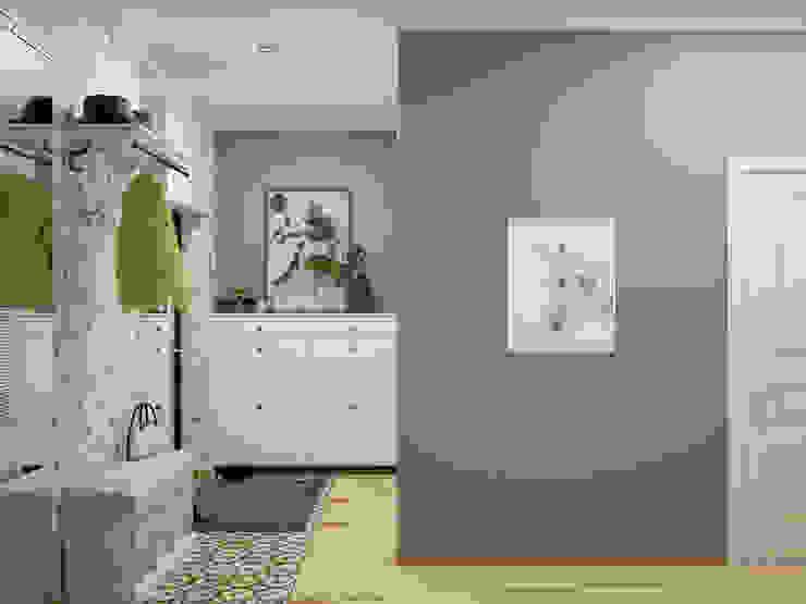 Искусство Интерьера 斯堪的納維亞風格的走廊,走廊和樓梯 木頭 White