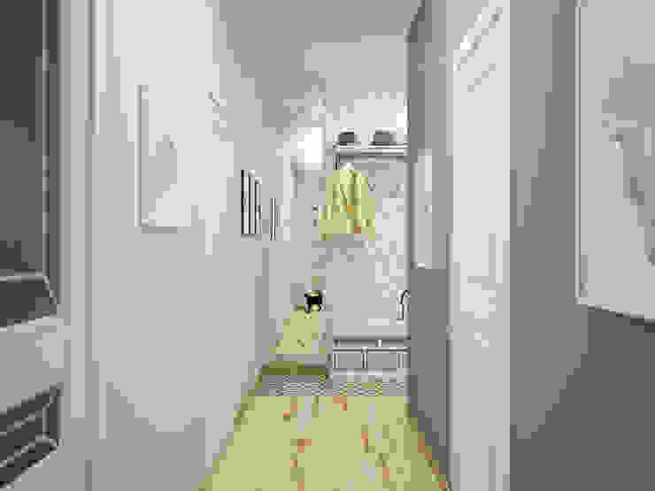 Искусство Интерьера 斯堪的納維亞風格的走廊,走廊和樓梯 木頭 Grey