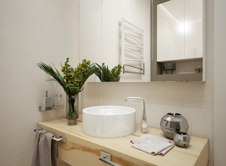 Искусство Интерьера 浴室 木頭 Beige