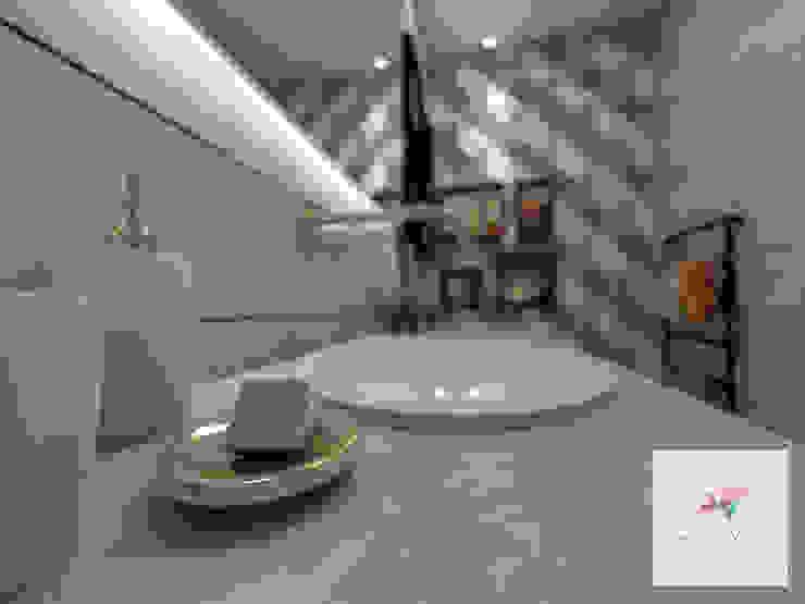 ห้องน้ำ โดย Arquitetura Débora Yukari, โมเดิร์น เซรามิค