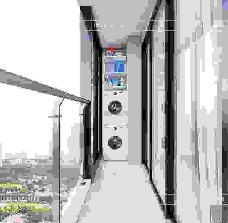 THIẾT KẾ CĂN HỘ VINHOMES NHẸ NHÀNG, TINH TẾ cùng ICON INTERIOR Hành lang, sảnh & cầu thang phong cách hiện đại bởi ICON INTERIOR Hiện đại