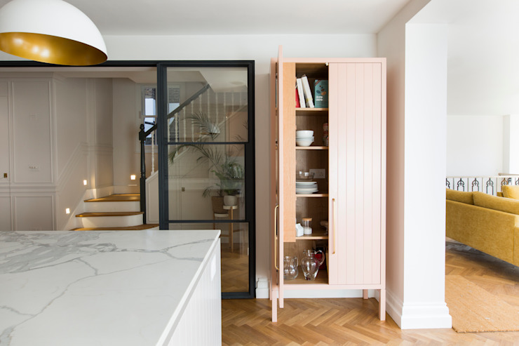 Urban rustic style - Victorian villa, Hammersmith My-Studio Ltd Built-in kitchens MDF Pink