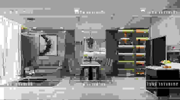THIẾT KẾ CĂN HỘ VINHOMES NHẸ NHÀNG, TINH TẾ cùng ICON INTERIOR Phòng ăn phong cách hiện đại bởi ICON INTERIOR Hiện đại