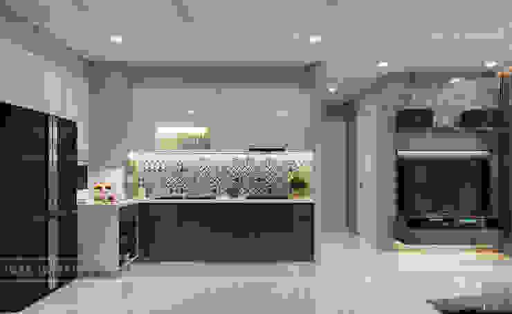 THIẾT KẾ CĂN HỘ VINHOMES NHẸ NHÀNG, TINH TẾ cùng ICON INTERIOR Nhà bếp phong cách hiện đại bởi ICON INTERIOR Hiện đại
