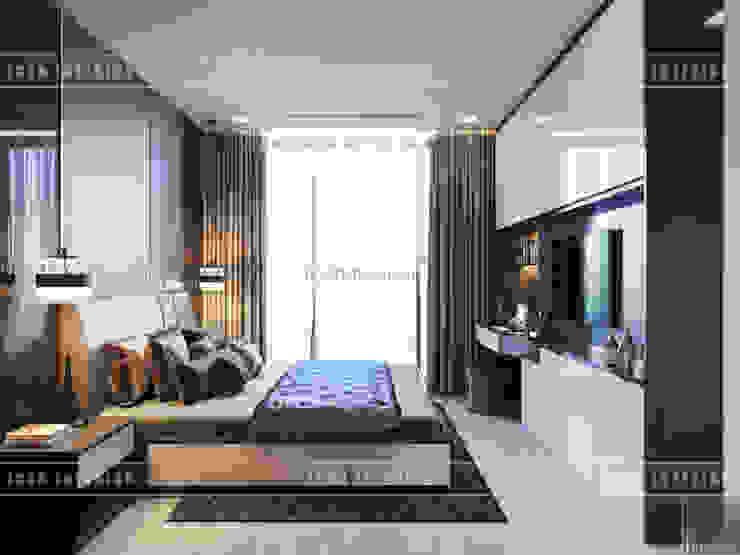 THIẾT KẾ CĂN HỘ VINHOMES NHẸ NHÀNG, TINH TẾ cùng ICON INTERIOR Phòng ngủ phong cách hiện đại bởi ICON INTERIOR Hiện đại