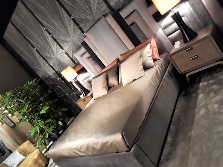 Sgabello Interiores BedroomBeds & headboards Textile Grey